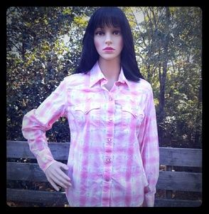 Lucky Brand Girly Cowgirl Shirt - Size M